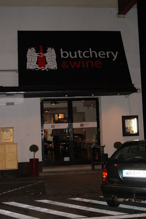 Butchery and Wine: Restaurant front
