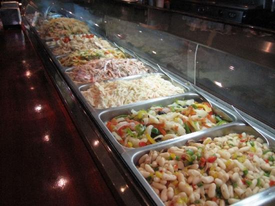 Restaurante Slavia: Buffet de ensaladas
