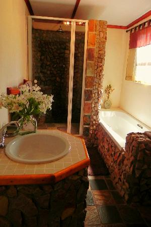 The Green Tree Guest Cottages: Porcupine Cottage bathroom
