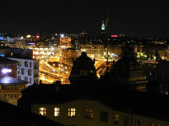 Crafoord Place: view on night Stockholm from our room