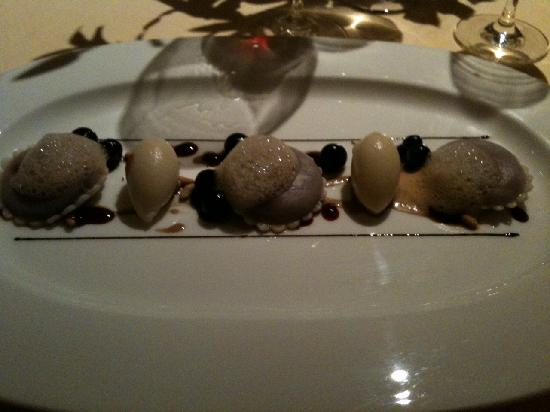 The Dining Room at Whatley Manor: Blackcurrant ravioli
