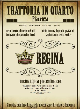 Trattoria Regina: Biglietto visita osteria