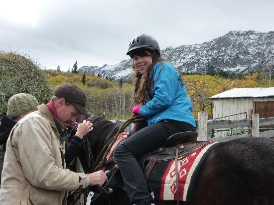 Centre Peak High Country Adventures: saddling up.