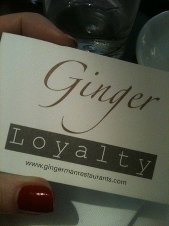 Gingerman: get a loyalty card