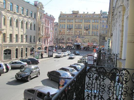 Club Hotel Agni: View from balcony to Nevsky P