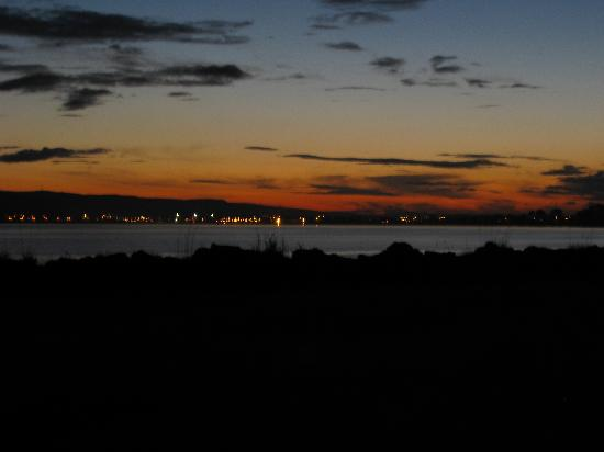 Bayside: sunset over the bay from front of B&B