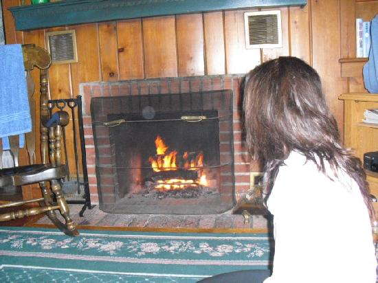 Babbling Brook Cottages: Cozy fire in the fireplace, beautiful