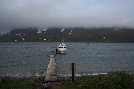Bolungarvik, Ισλανδία: Bootssteg in Hesteyri