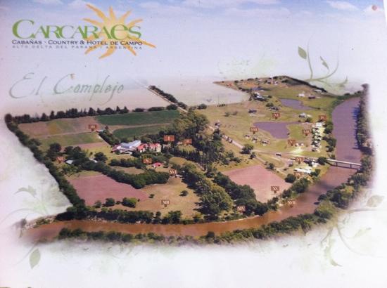 Oliveros, Argentina: Carcaraes. club de campo, cabañas, resort