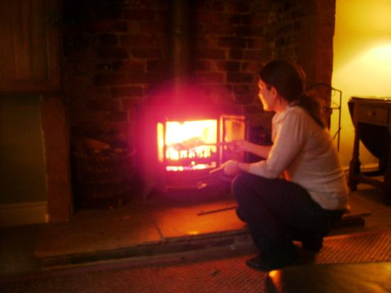 Anns Hill: Loving the fire!