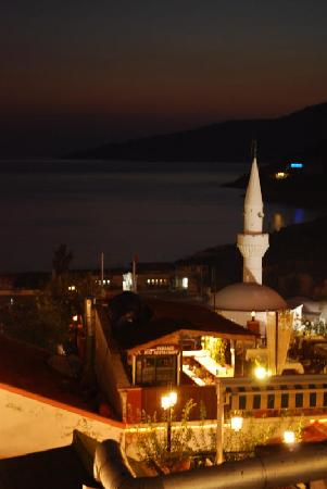 Samira Exclusive Hotel & Apartments: View of Kalkan at night from one of the town's restaurants.
