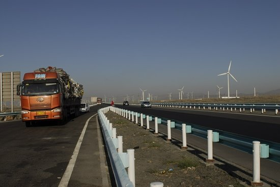 Dabancheng Wind Power Station : New sight seeing stop on the highway. now free but soon will have an entrance fee.