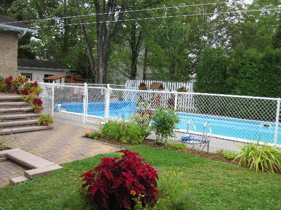 La Maison Becard : piscine et jardin