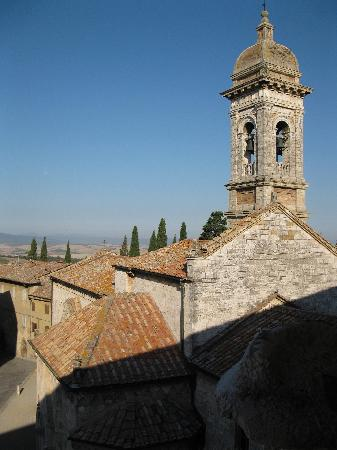 San Quirico d'Orcia, Italy: view from palazzo