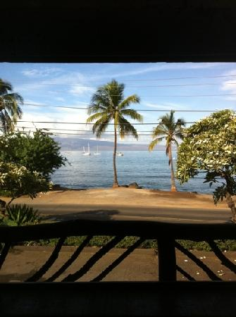 Cool Cat Cafe: view from our table at Five Palms in Lahaina