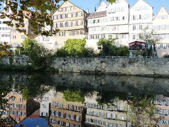 Alte Krone: A view of the river Neckar in the centre of Tubingen