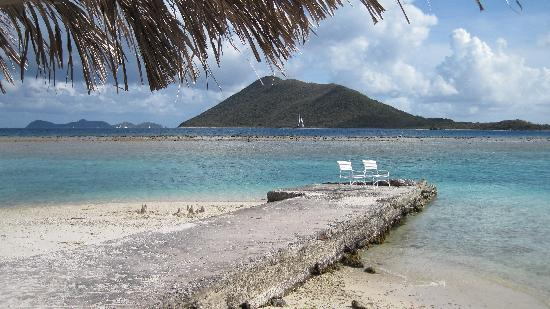 Marina Cay: View from the bar (reef)