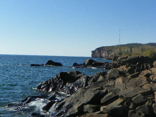 Inn at Palisade on Lake Superior: View of Palisade Head to the southwest