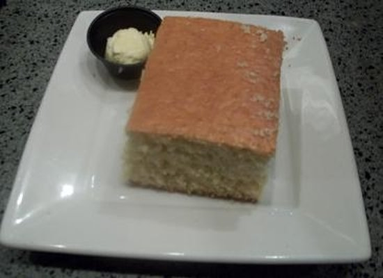 Marie Callender's Restaurant & Bakery: corn bread with sweet butter comes with the meal