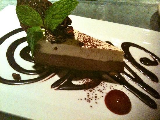 Millennium: This is their beyond yummy decadent Chocolate Almond Midnight (signature dessert)