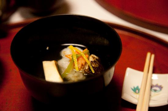 Shiraume: another course of our kaiseki dinner