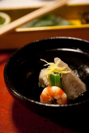 Shiraume: one of the many courses of our kaiseki dinner