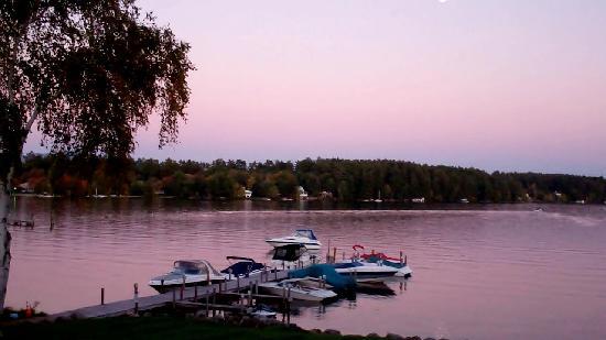 Center Harbor Inn on Lake Winnipesaukee: Evening view from our balcony