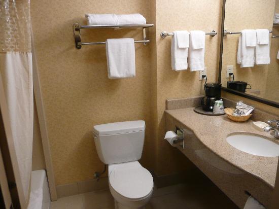 Hampton Inn & Suites Fresno: bathroom