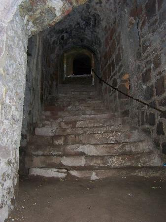 Burgruine Hardenburg: Treppenaufgang Innen