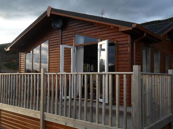 Lochaber Lodges: A view to our lodge