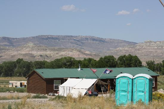 Big Piney, WY: Does this look like a camp along a soothing river?
