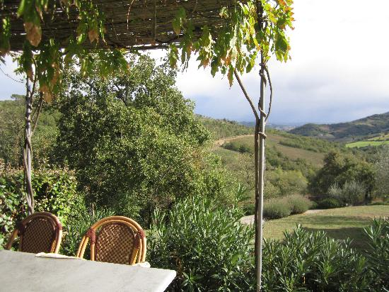 Casa San Gabriel: View from the terrace of La Cantina
