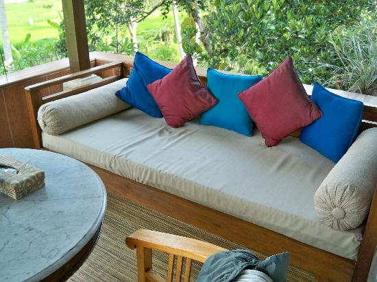 back area veranda chair desk bed photo de alam jiwa ubud tripadvisor. Black Bedroom Furniture Sets. Home Design Ideas