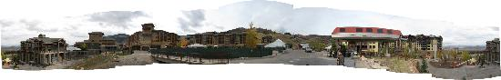 Sundial Lodge at Canyons Village: This was the view from the plaza between the Sundial and Grand Summit; the construction should b