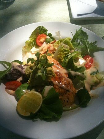 The Quarry Restaurant: chicken tenderloin and avocado salad.... amazing