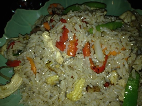 Spicy basil fried rice with chicken picture of taste of for Asia cuisine ithaca ny