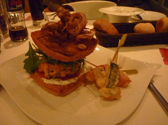 La Pêcherie : hamburger saumon