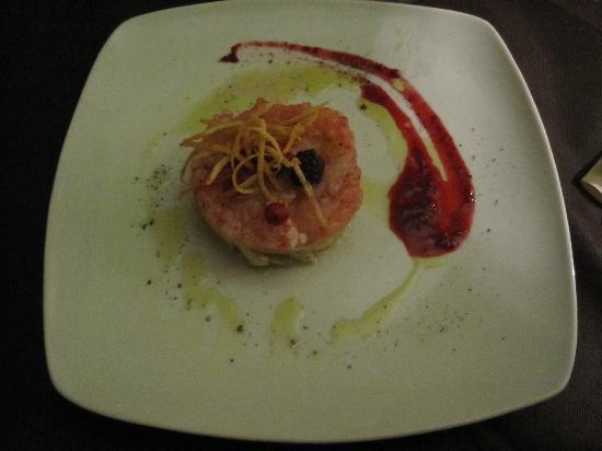 Hosteria Italiana: tartare di gamberi e finocchietto