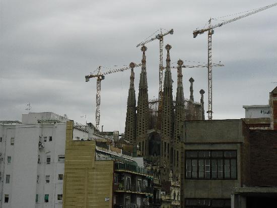 Hostemplo Sagrada Familia: vista de la Sagrada Familia desde Balcón