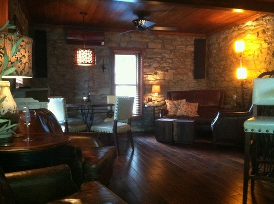 The Stone House: Upstairs seating area