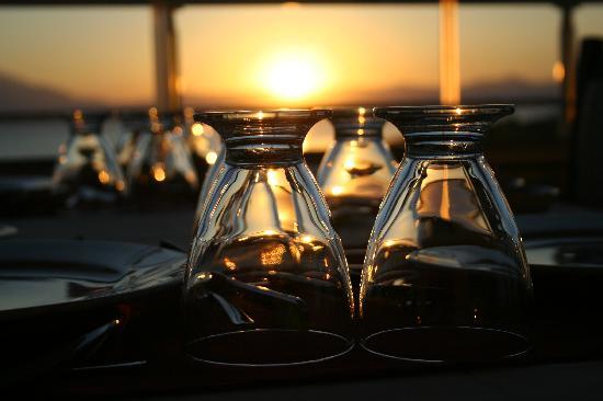 Ali Bilir Hotel: Teras kat restauranttan Günbatımı