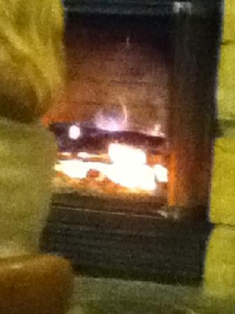 Caffe Vero : the warming fireplace