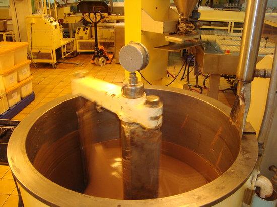 San Carlos de Bariloche, Argentina: Chocolate sendo misturado.