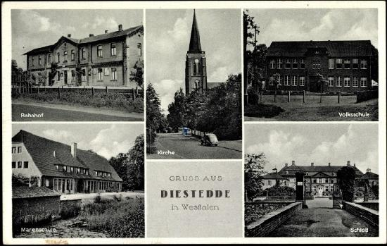 Diestedde, Niemcy: historische Postkarte
