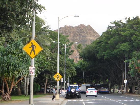 Aston Waikiki Beach Hotel: Diamond Head in the distance