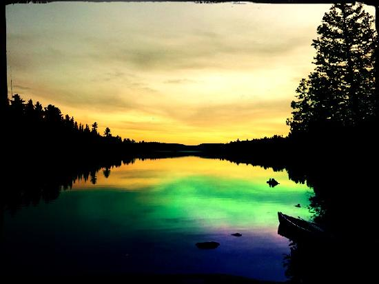 Algonquin Provincial Park, Canada: Abendstimmung