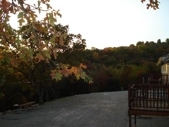 Harpers Valley Resort : autumn colors from the deck