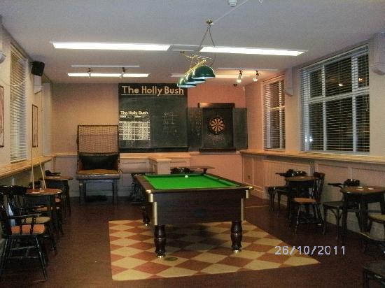 The Holly Bush Inn: The games room