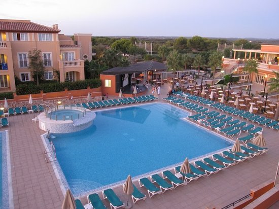 Holiday Village Menorca: View of pools from room 1214
