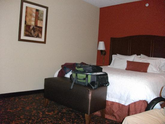 Hampton Inn Elmira/Horseheads: Bed